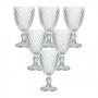 Conjunto de 6 Taças em Vidro Transparente Bico de Abacaxi 300 ml - Casambiente