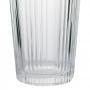 Jogo de copo de vidro transparente 380ml Flowers - Casambiente