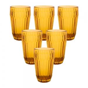 Jogo de Copos de Vidro Arrow Âmbar 345ml 6 peças - Casambiente