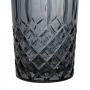 Jogo de Copos de Vidro Barroco Fumê Espelhado 380ml - Casambiente