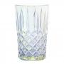Jogo de Copos de Vidro Barroco Transparente Furta-cor 380ml - Casambiente