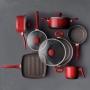 Jogo de Panelas Brinox Ceramic Life Easy Vermelho 7 peças