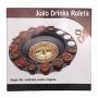 Jogo Cassino de Roleta Drink Shot 16 Copos - Onyx