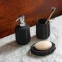 Jogo para Banheiro Lavabo 3 peças Fold Preto - Haus Concept