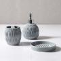 Jogo para Banheiro Lavabo 3 peças Gris Cinza - Haus Concept