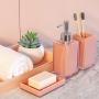 Jogo para Banheiro Lavabo 3 peças Sublime Rosa -  Haus Concept