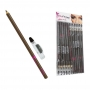Lápis de Olho Marrom com Apontador 12 unidades - Bella Femme