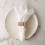 Porta guardanapo de tecido 4 anéis Alliance Rose - Lyor