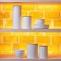 Pote para Mantimento de Metal Branco 2,5L - Haus Concept
