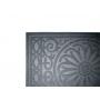 Tapete Medalhão Cinza 40x60cm - Casambiente