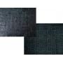 Tapete Entrelaçado Preto 40x60cm - Casambiente