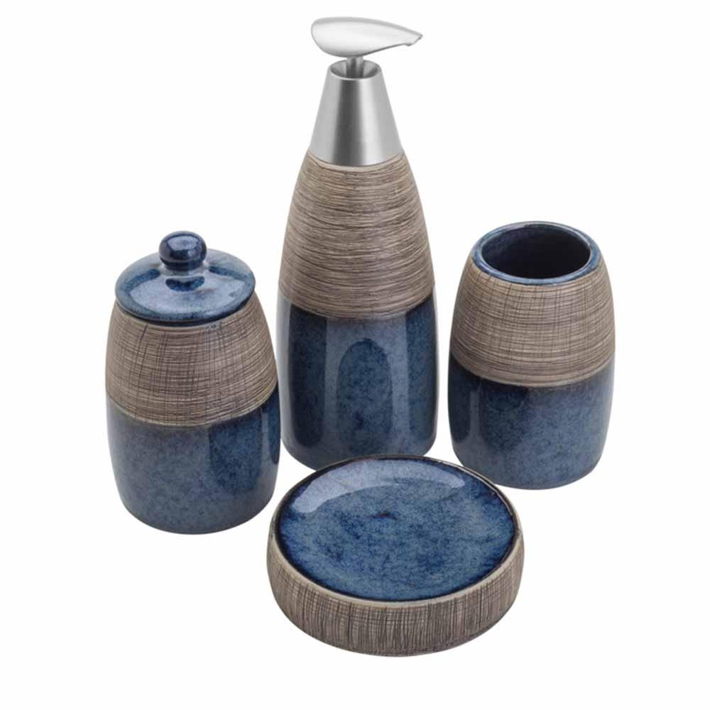 Acessórios para Banheiro Lavabo 4 peças Carrara - Lyor