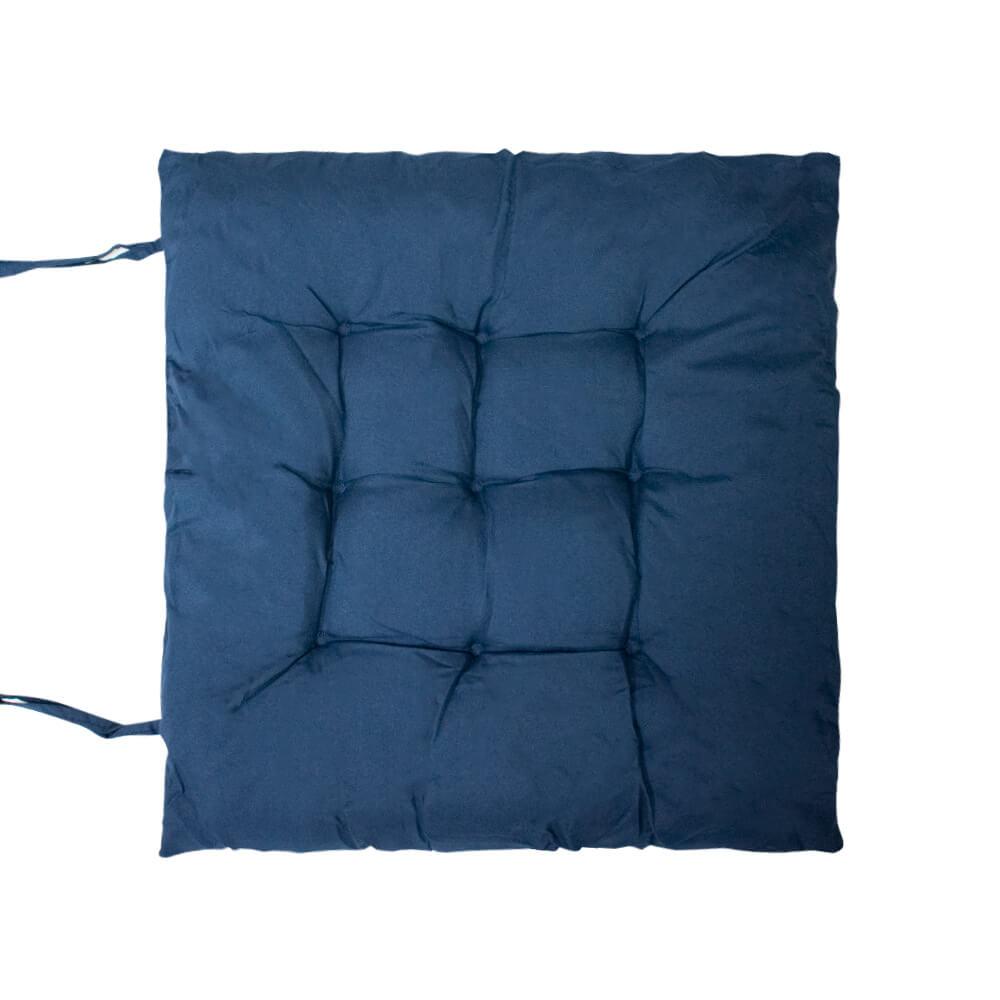 Almofada Futon Lisa Azul Marinho 40x40cm - Casambiente