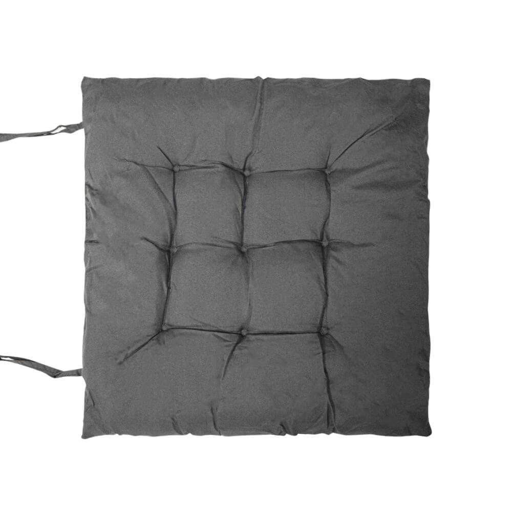 Almofada Futon Lisa Cinza 40x40cm - Casambiente