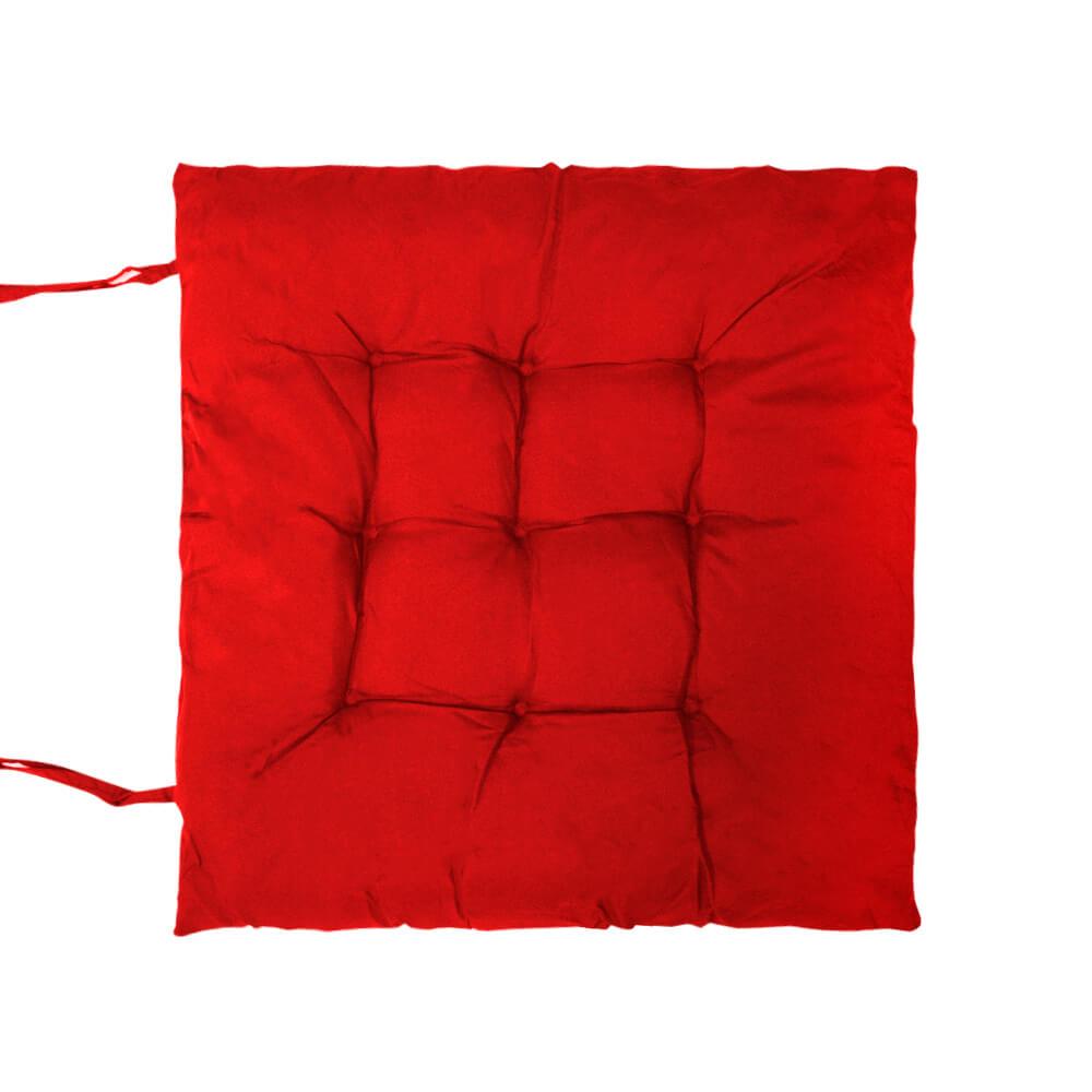 Almofada Futon Lisa Vermelha 40x40cm - Casambiente