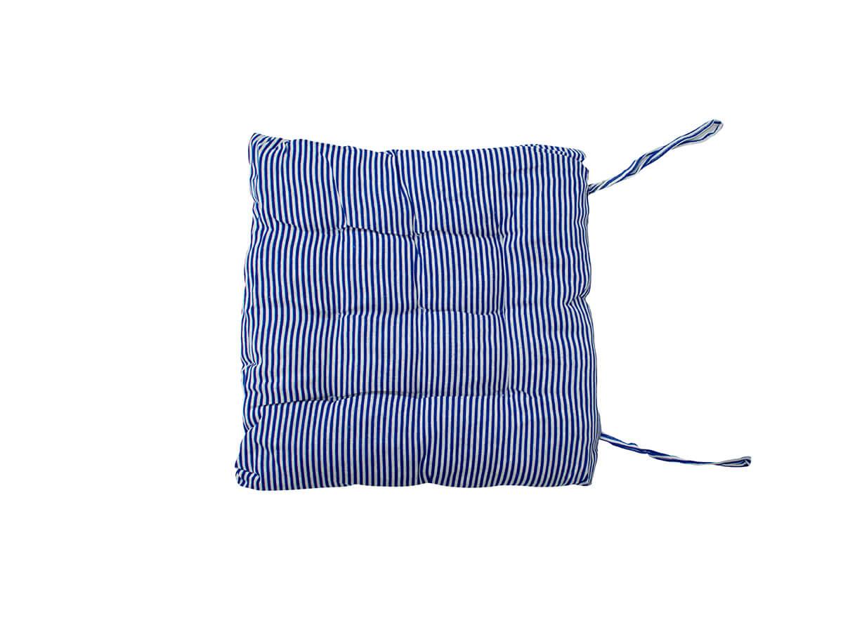 Almofada Futon Listrada Azul 40x40cm - Casambiente