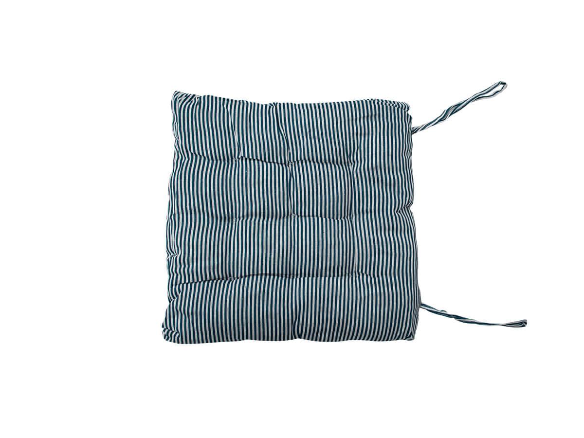 Almofada Futon Listrada Azul Marinho 40x40cm - Casambiente