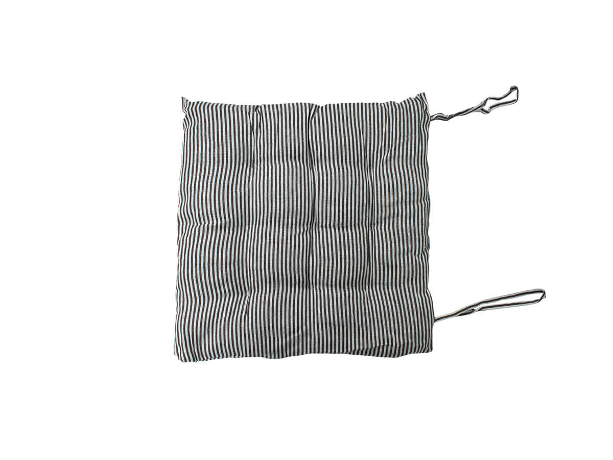 Almofada Futon Listrada Cinza 40x40cm - Casambiente
