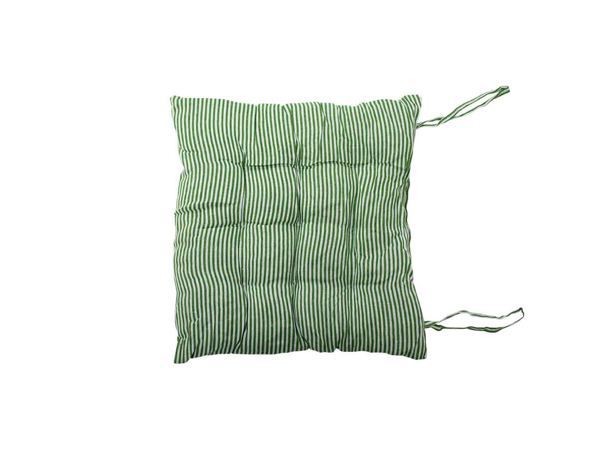 Almofada Futon Listrada Verde 40x40cm - Casambiente