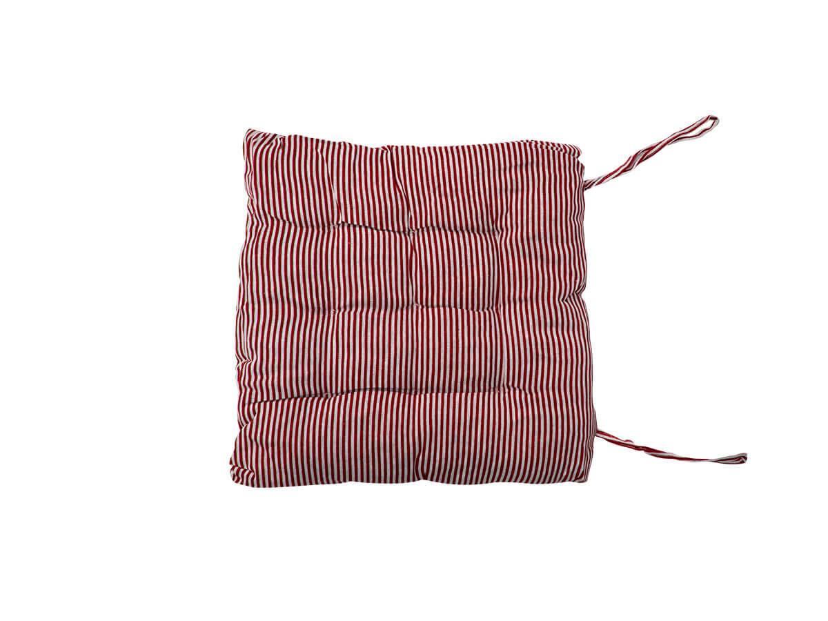 Almofada Futon Listrada Vermelha 40x40cm - Casambiente