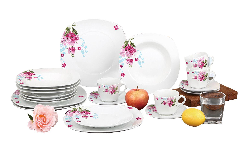 Aparelho De Jantar Estampado 20 Peças Sanxia 3441