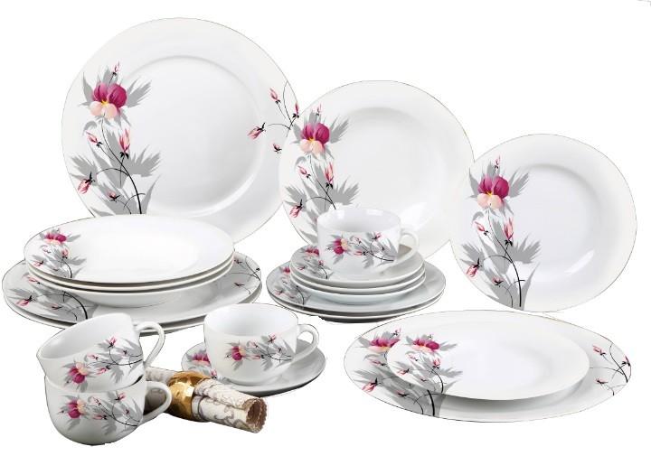 Aparelho De Jantar Estampado 20 Peças Sanxia 3446