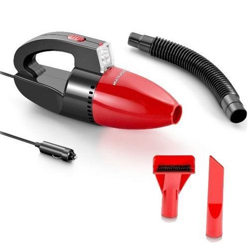 Aspirador de Pó Automotivo 1500pa 12v 60w Funcao Solido e Liquido Com Mangueira Vermelho Multilaser - AU607