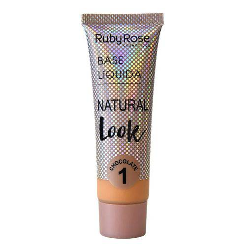 Base Líquida Ruby Rose Natural Look Cor Bege 01 - 29ml Hb-8051