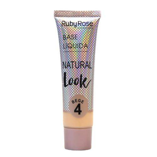 Base Líquida Ruby Rose Natural Look Cor Bege 04 - 29ml Hb-8051