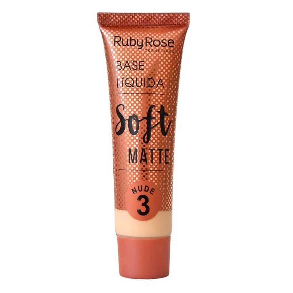 Base Líquida Soft Matte Nude 3 - Ruby Rose