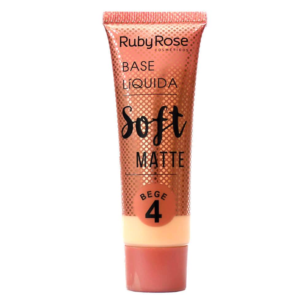 Base Líquida Soft Matte Nude 4 - Ruby Rose