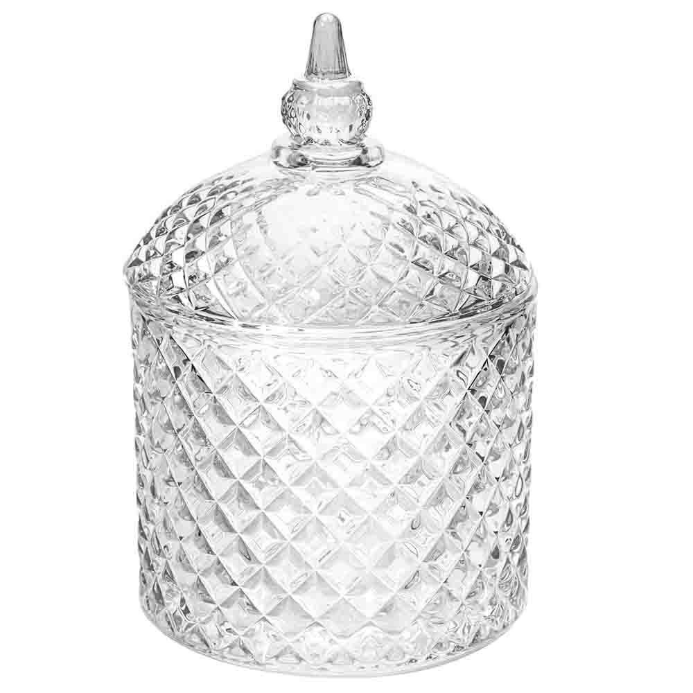 Bomboniere de Vidro Transparente com Tampa - BOMB011