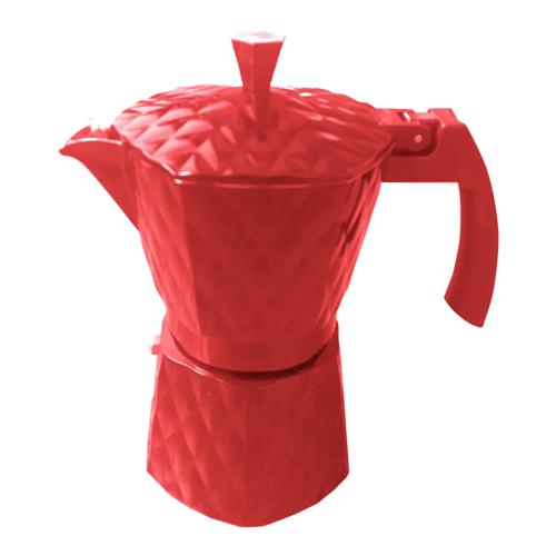 Cafeteira Italiana Casambiente Alumínio Vermelha - CAFE017