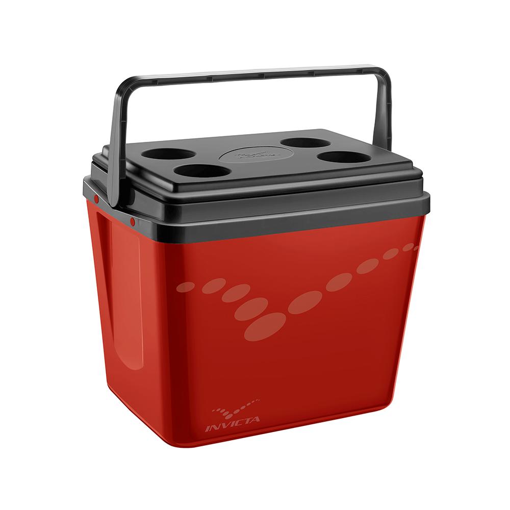 Caixa Térmica Cooler Pop Vermelho 34L - Invicta