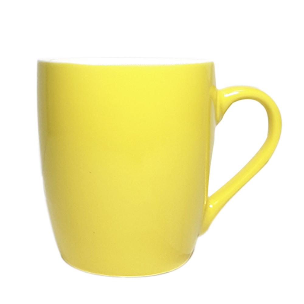 Caneca de Porcelana 240ML Amarela - Casambiente