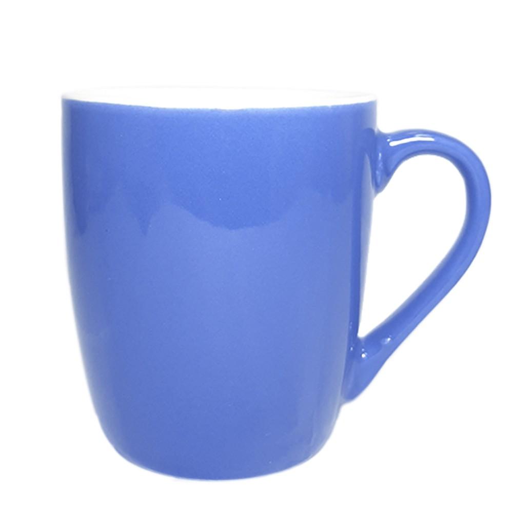 Caneca de Porcelana 240ml Azul Claro - Casambiente