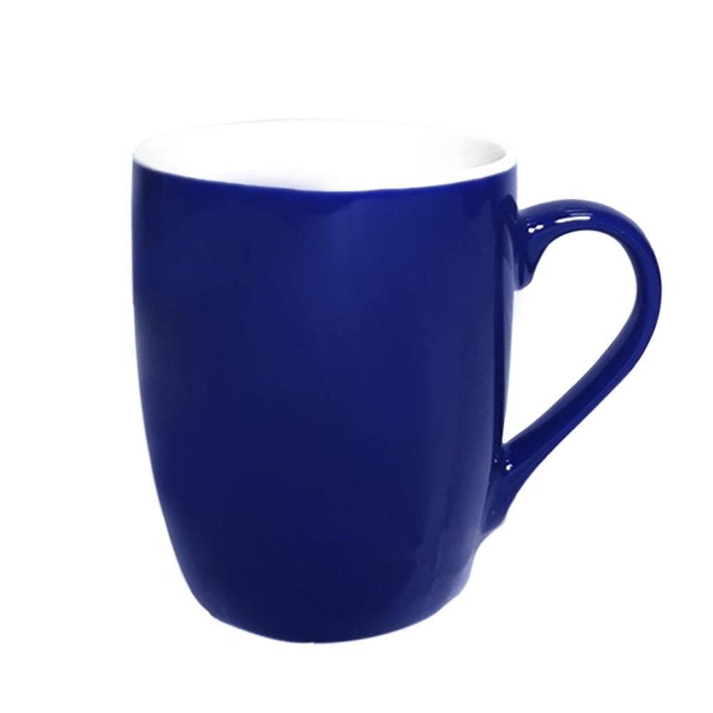Caneca de Porcelana 240ml Azul Escuro - Casambiente
