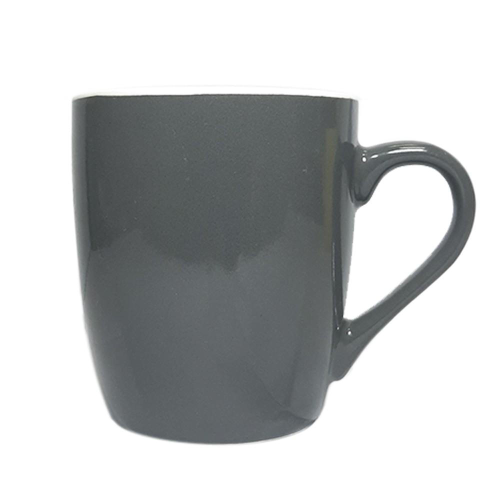 Caneca de Porcelana 240ml Cinza Escuro - Casambiente