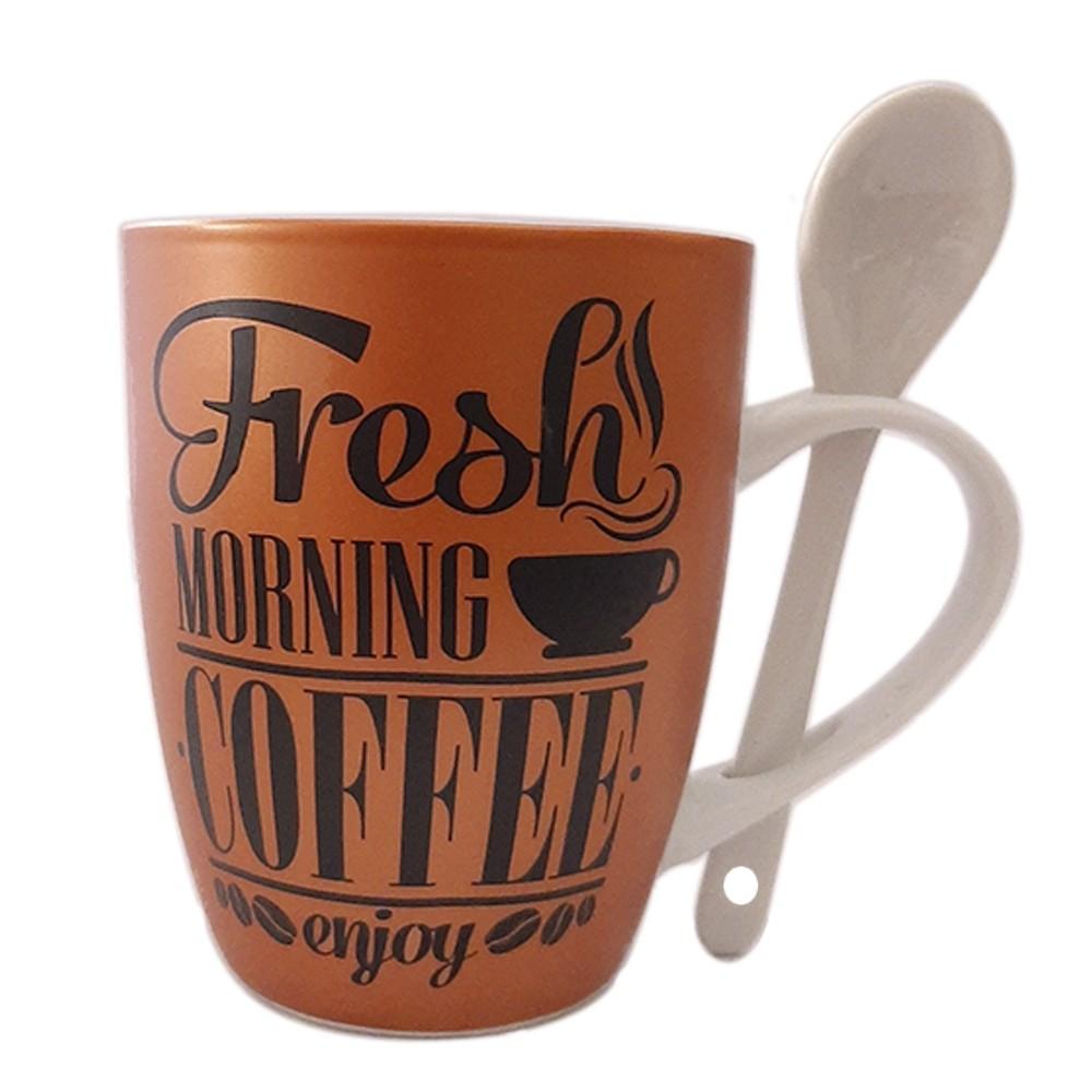 Caneca de Porcelana 240ml Coffee Enjoy - Casambiente