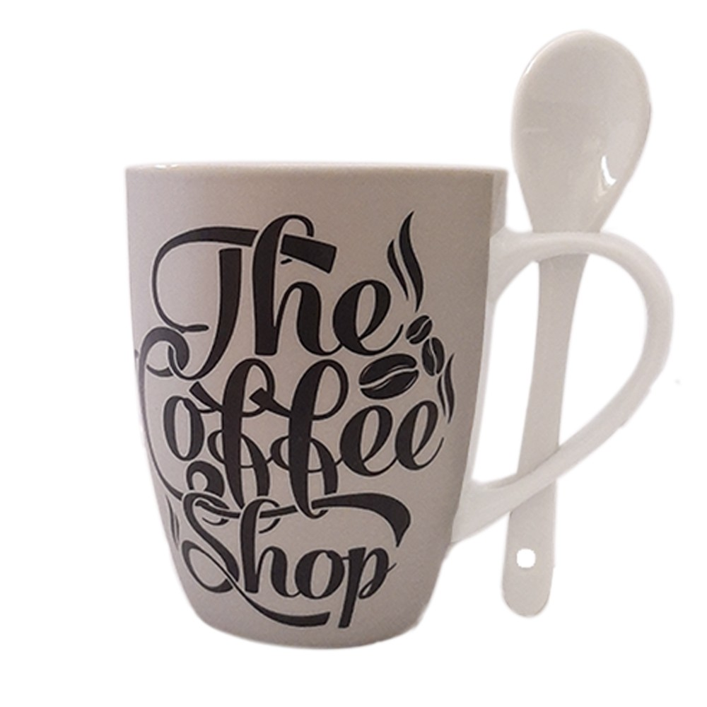 Caneca de Porcelana 240ml Coffee Shop - Casambiente