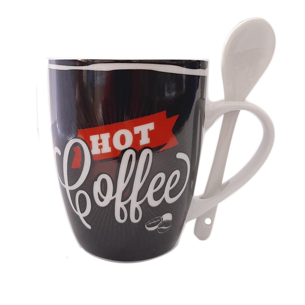 Caneca de Porcelana 240ml Hot Coffee - Casambiente