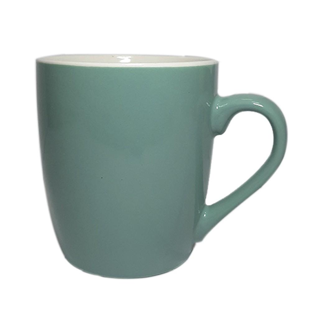 Caneca de Porcelana 240ml Verde - Casambiente
