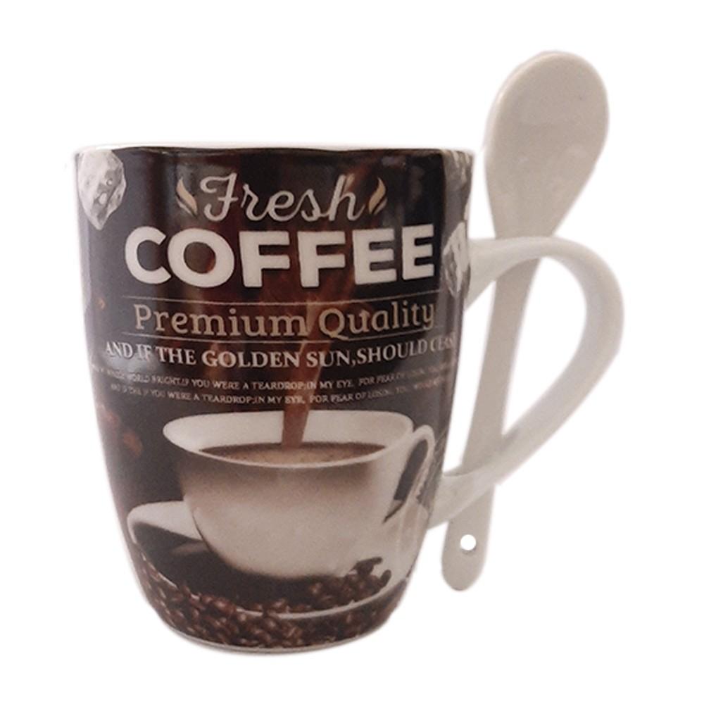 Caneca de Porcelana 340ml Fresh Coffee - Casambiente
