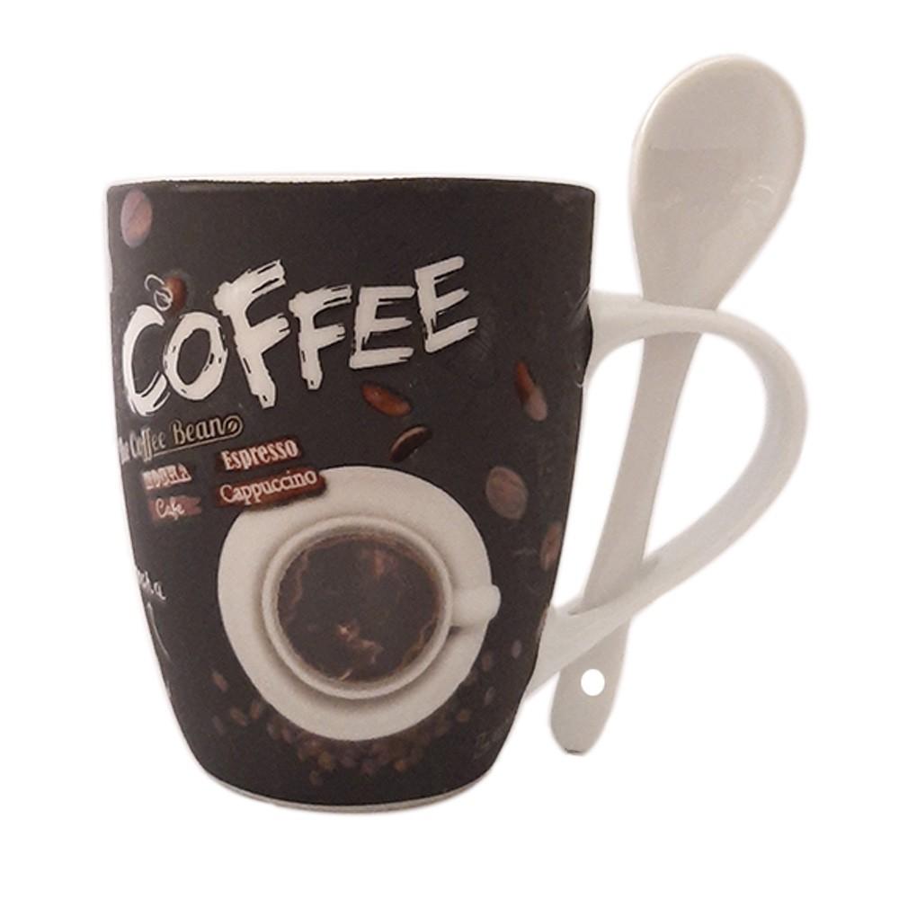 Caneca de Porcelana 340ml The Coffee Bean - Casambiente