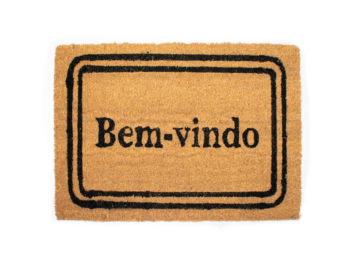 Capacho Bem-Vindo Retangular 40x60cm - Casambiente