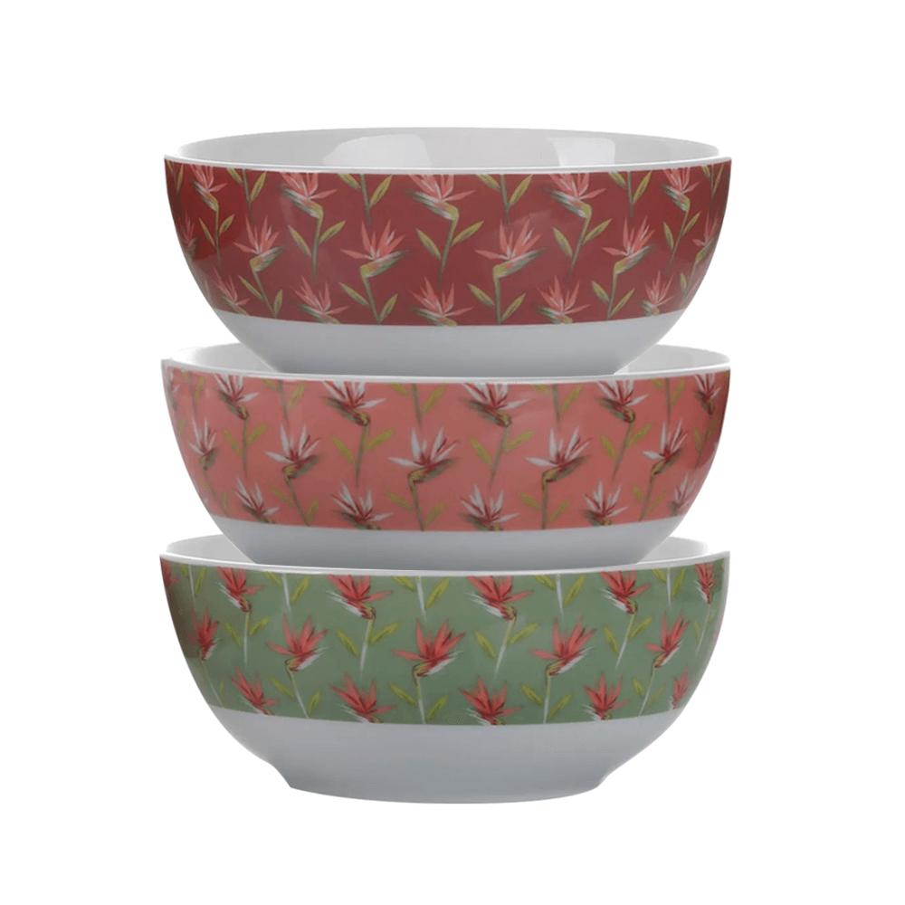 Conjunto de 3 Bowls de Porcelana Paraiso BOWL051 - Casambiente