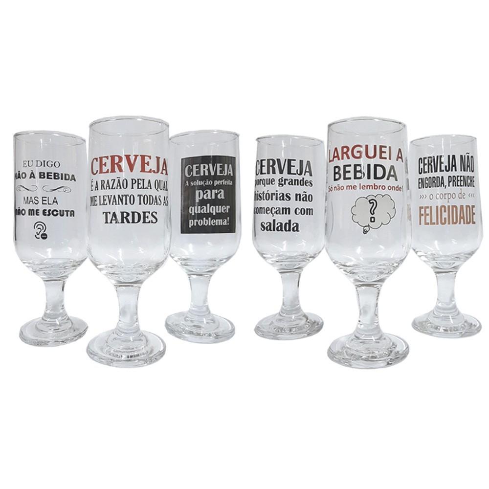 Conjunto de 6 taças Personalizadas para Cerveja 300ml - Casambiente