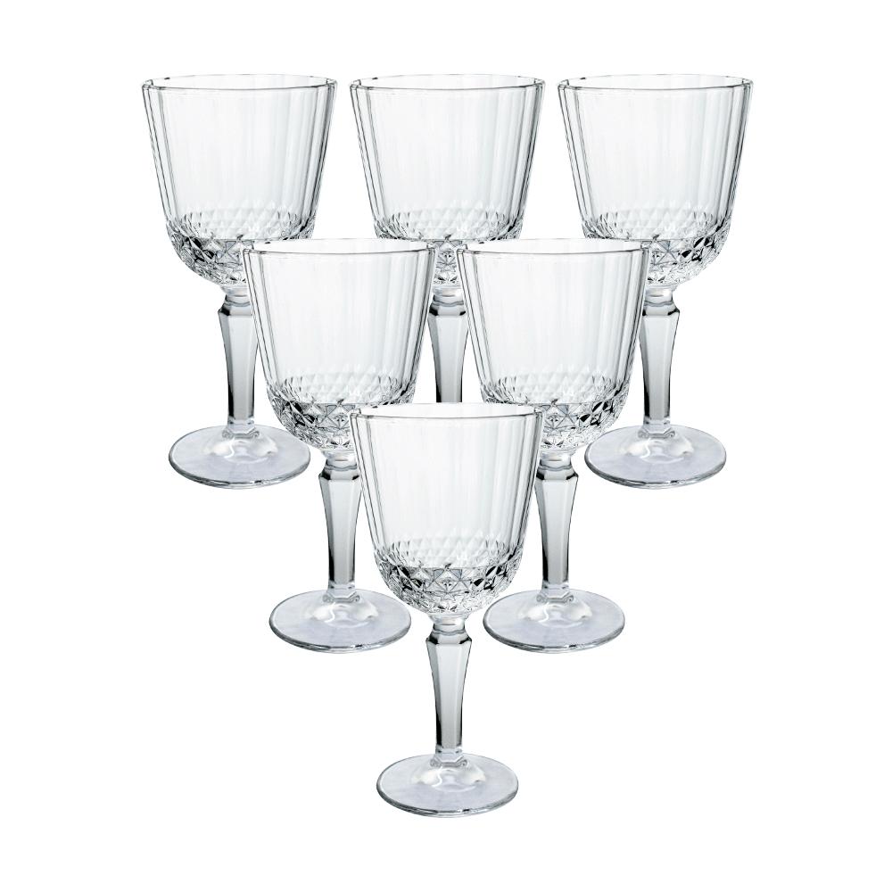 Conjunto de taças de Vidro 300ml 6 Peças Transparente Classic  - Casambiente