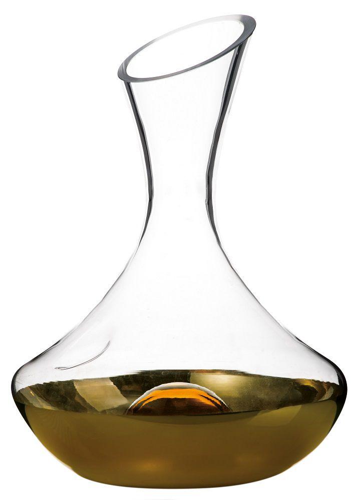 Decantador de Vinho em vidro Gold - Casambiente