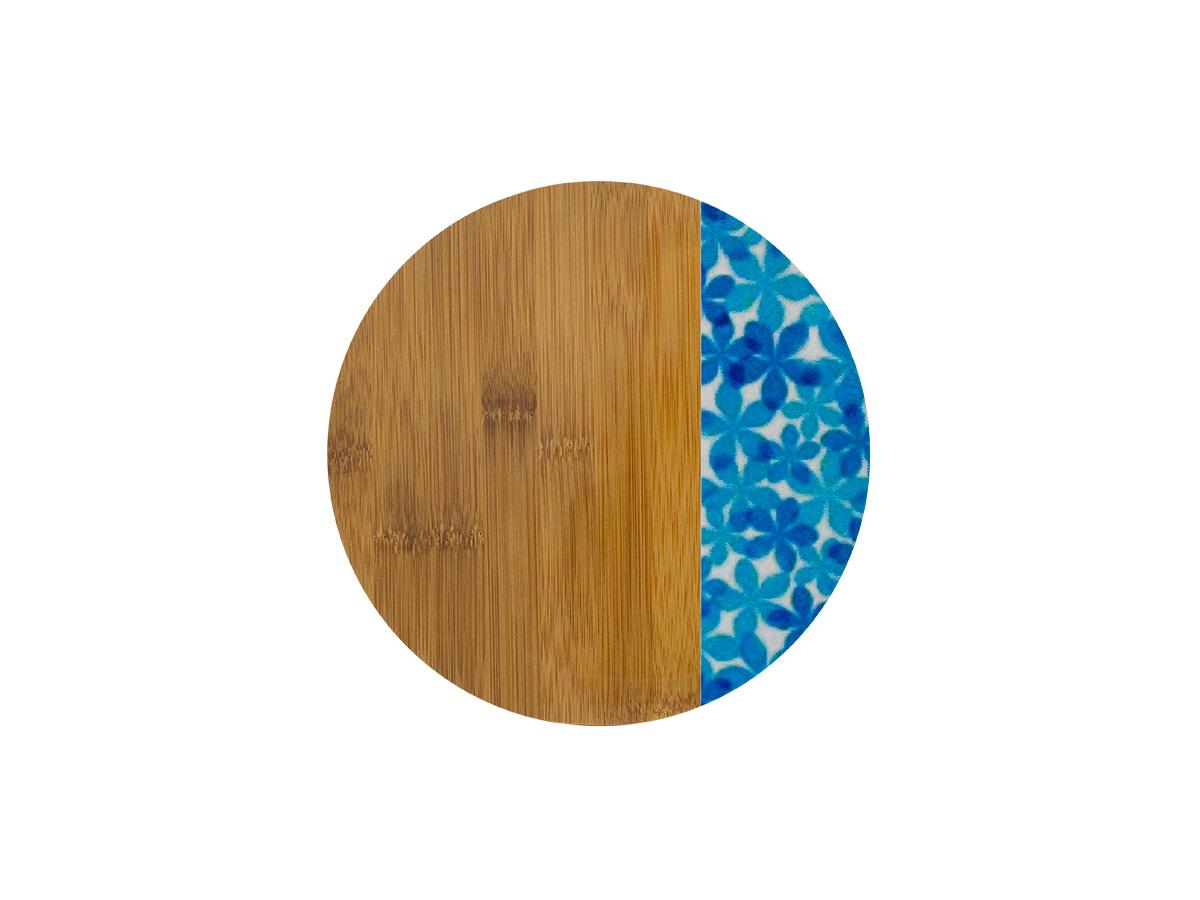 Descanso de Panela de Bambu 20cm Blue Garden - Casambiente